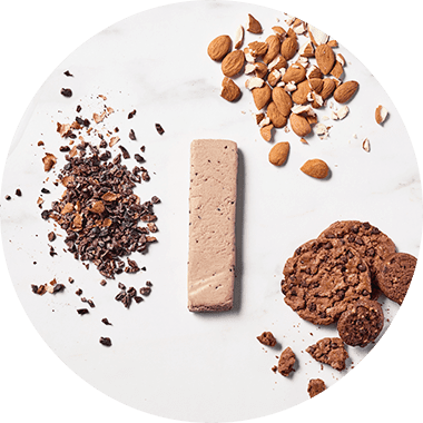 Top View Protein Bar with Cookies